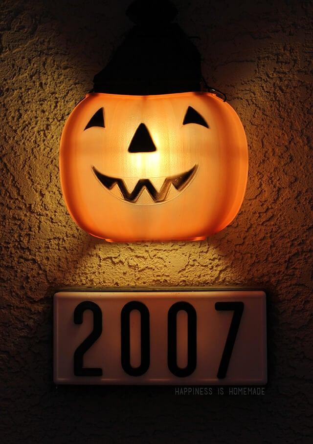 Halloween Plastic Pumpkin Porch Lantern Lights