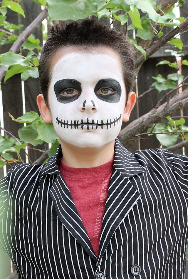 Jack Skellington Makeup with Tulip Face Paint
