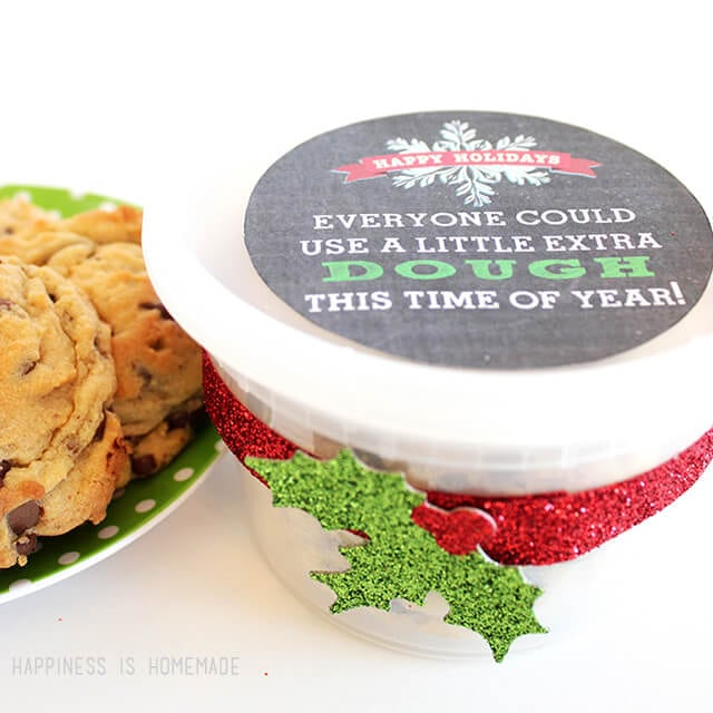 Christmas Neighbor Gift - Printable Cookie Dough Labels