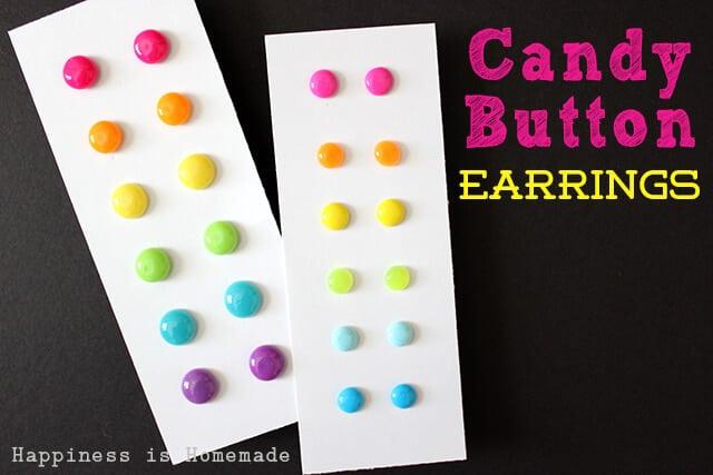 DIY Candy Button Earrings