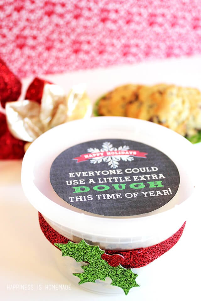 Everyone Could Use a Little Extra Dough Christmas Printable Gift Tag