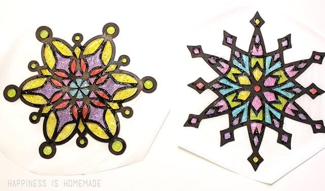 How to Make Snowflake Sun Catchers
