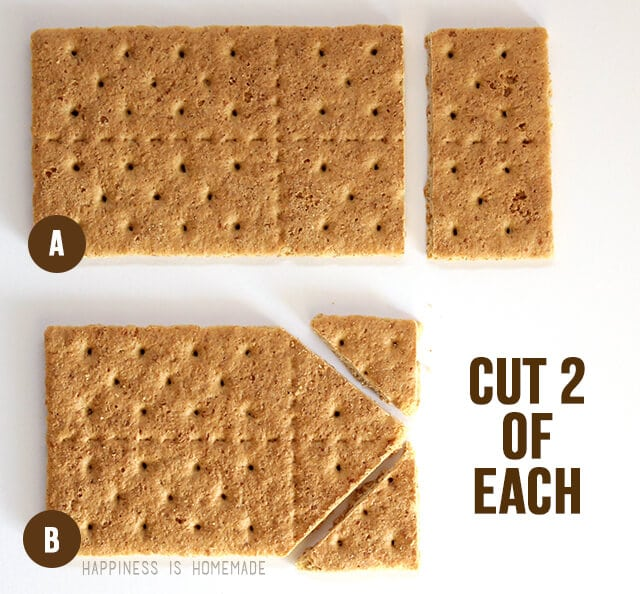 How to Make a graham Cracker Gingerbread House - Step 1