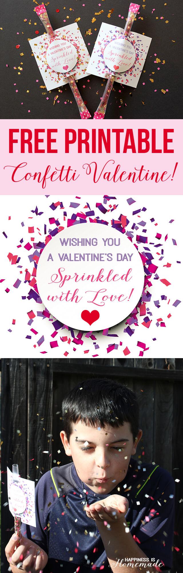 Free Printable Confetti Valentine
