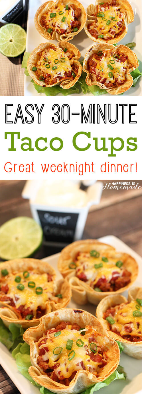 Quick and Easy Taco Cups Weeknight Dinner Recipe