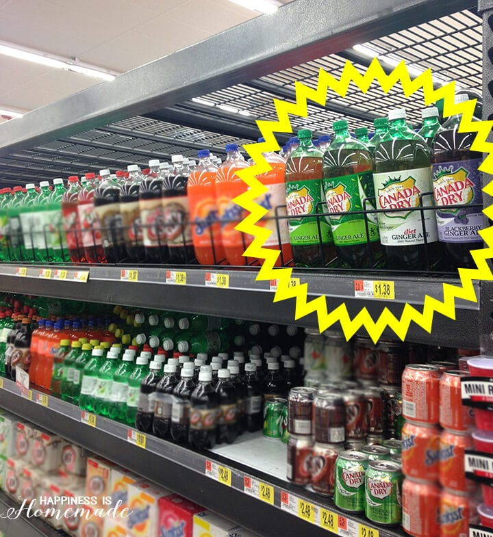 Canada Dry Blackberry and Original Ginger Ale at Walmart