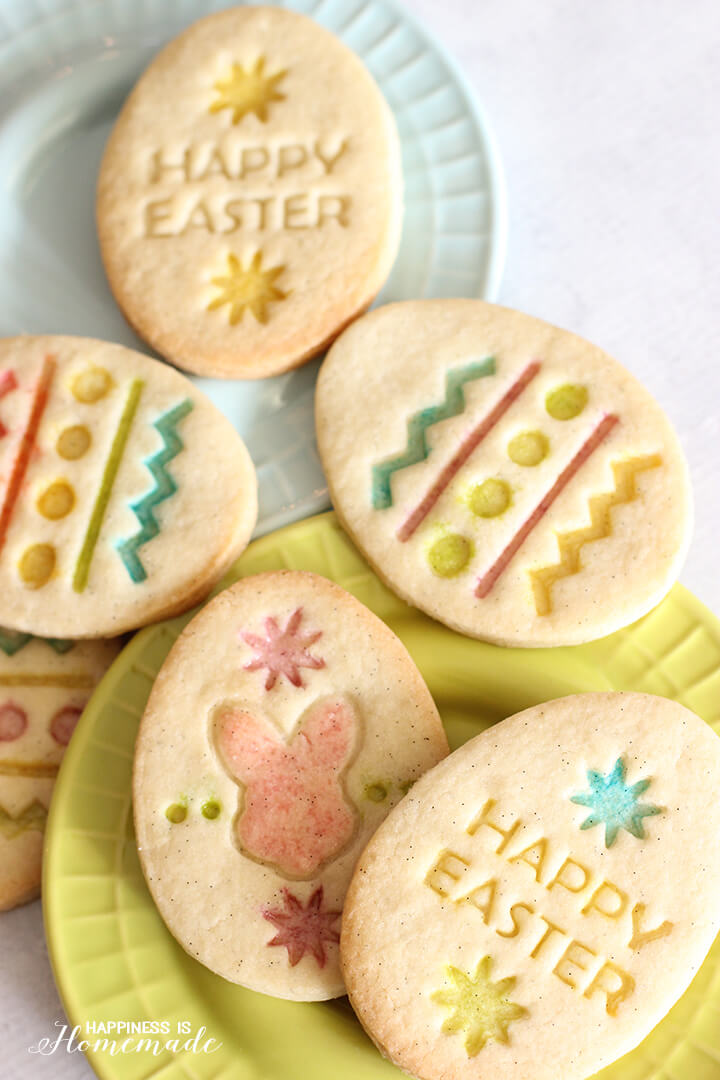 Gluten Free Easter Sugar Cookies with Vanilla Bean