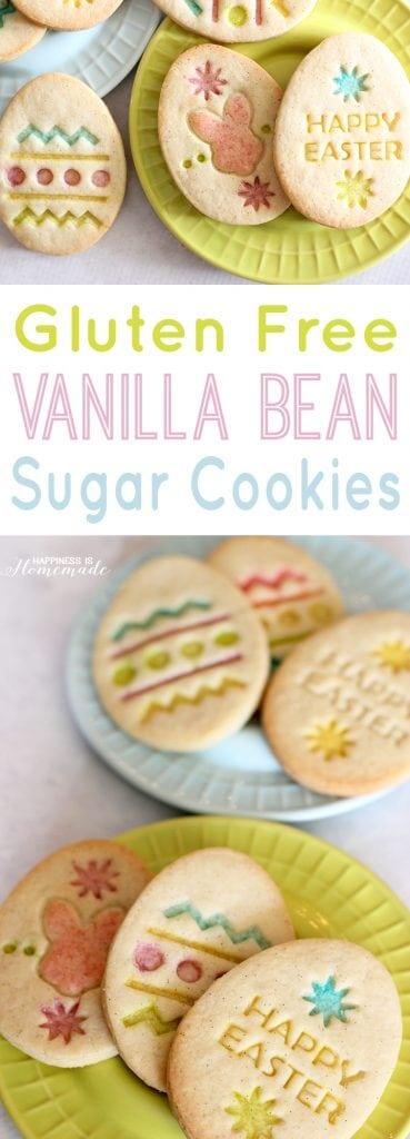 Gluten Free Vanilla Bean Easter Egg Sugar Cookies