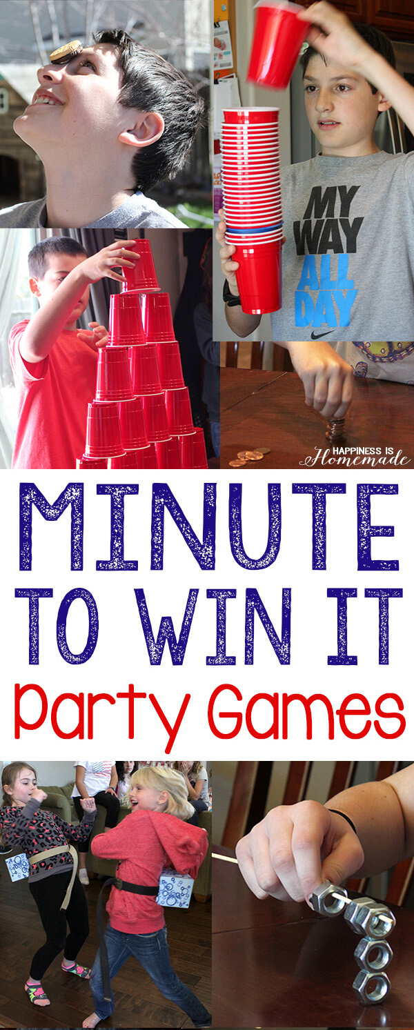10 Awesome Minute To Win It Party Games Happiness Is