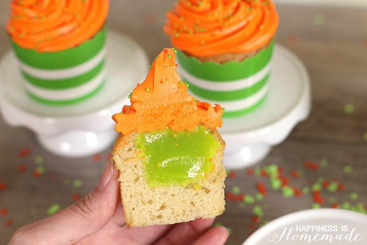 Nickelodeon Kids' Choice Awards Green Slime Filled Cupcakes