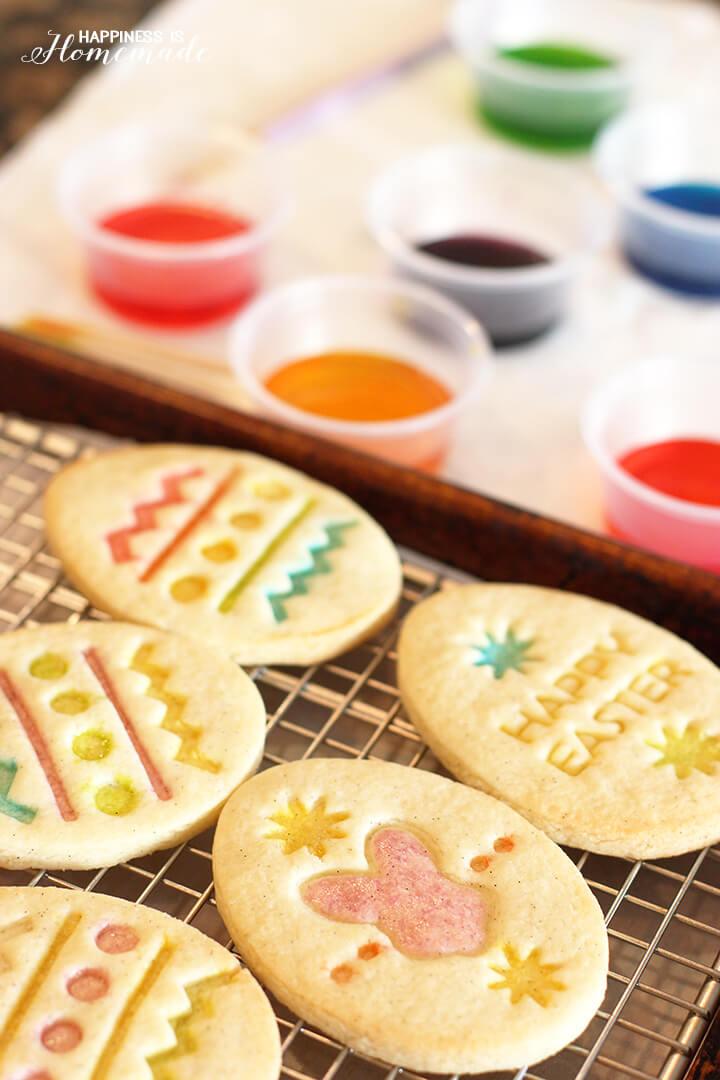 Sugar Painted Gluten Free Easter Cookies