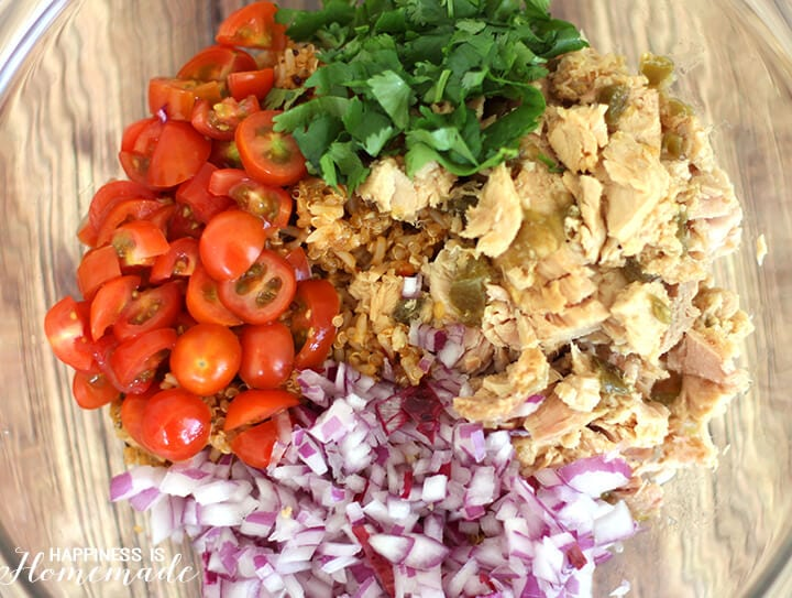 Ingredients for Spicy Tuna and Quinoa Salad