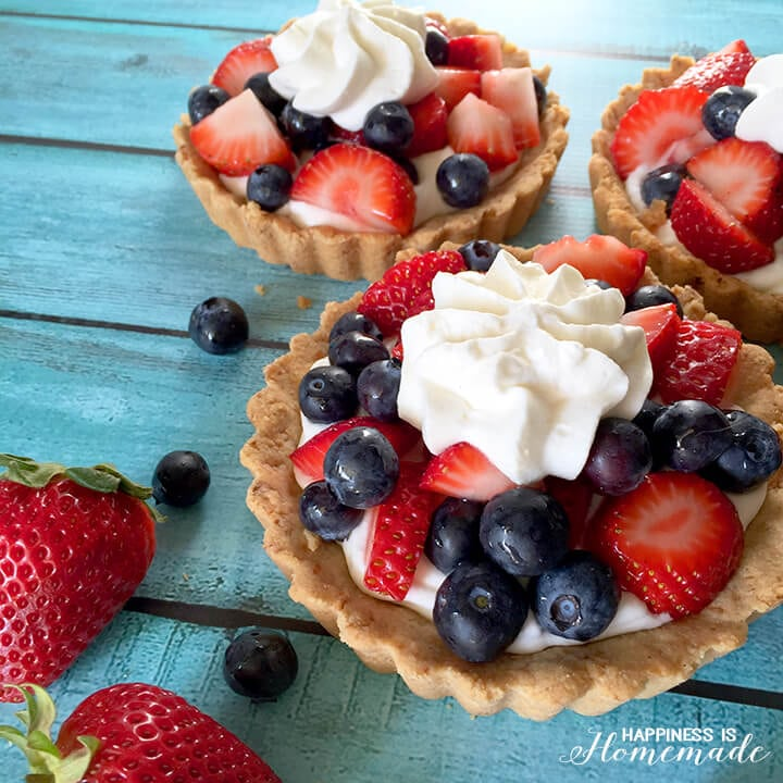 Berries and Cream Fruit Tarts