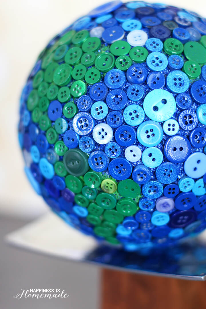 Close Up Detail of Button Globe