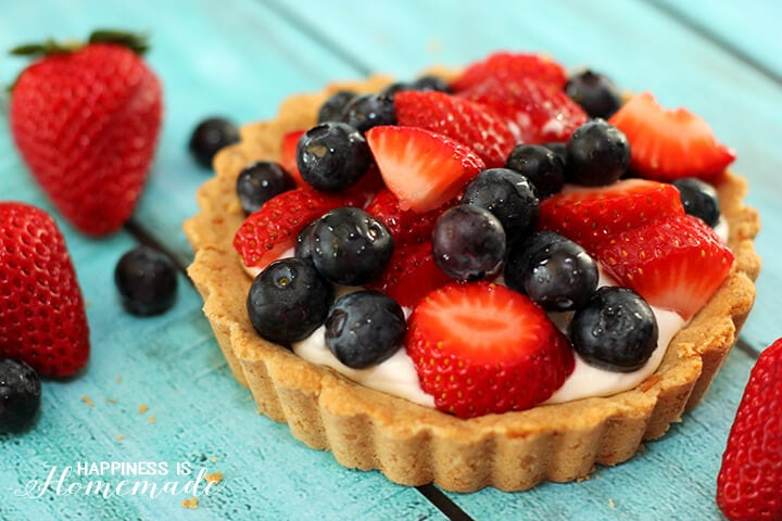 Fresh Berries and Coconut Cream Tarts