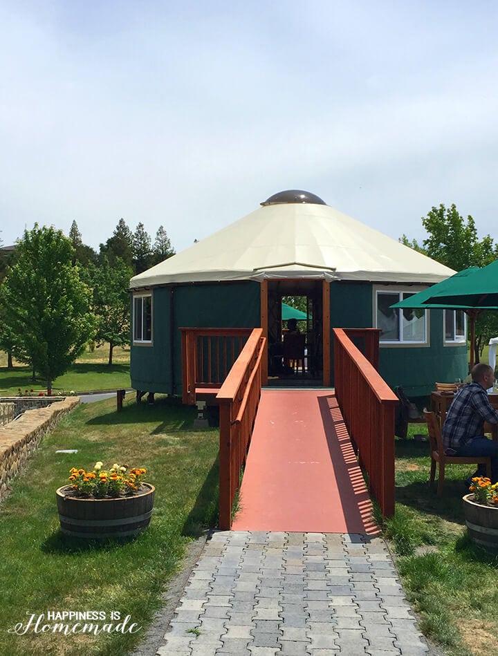 Sonoma-Cutrer Vineyards Wine Tasting Yurt
