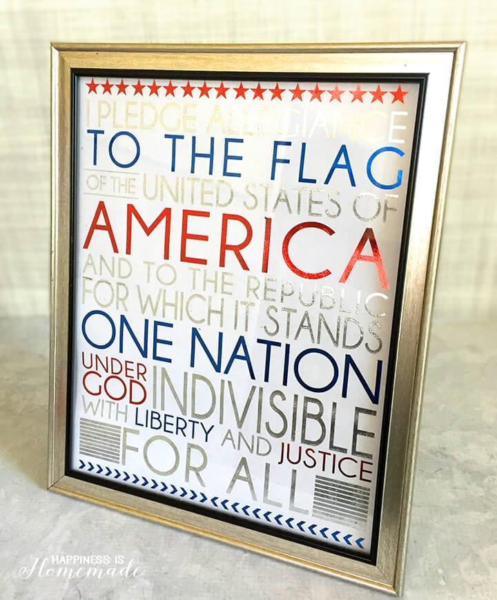 Metallic Foil Pledge of Allegiance