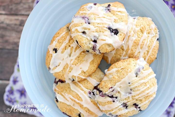 Yummy Lemon Blueberry Scone Recipe