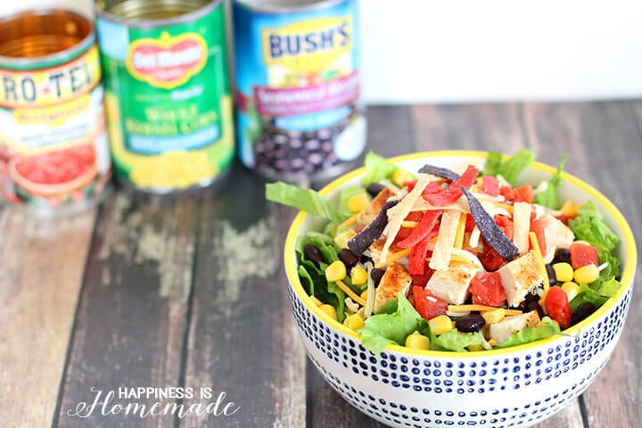 Cans Get You Cooking Chicken Taco Salad