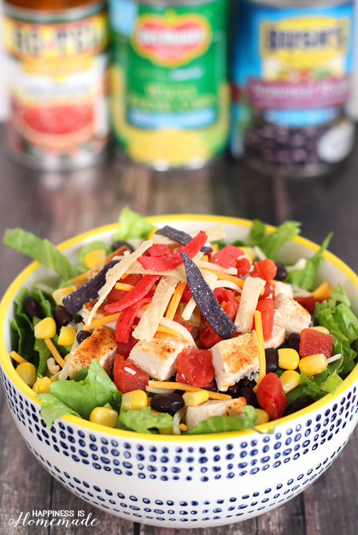 Fiesta Chicken Taco Salad Recipe