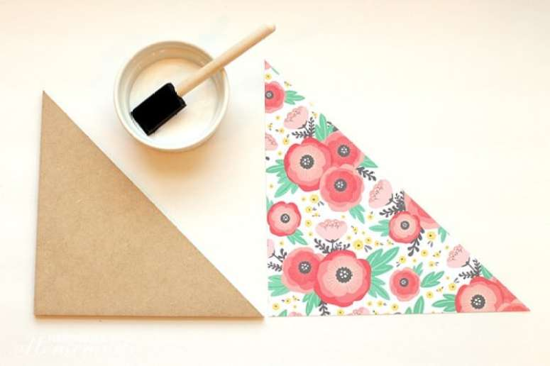 How to Decoupage Paper on to Wood