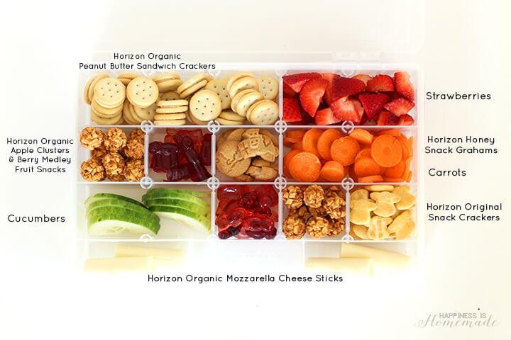 Travel Snack Box with Horizon Organic Snacks
