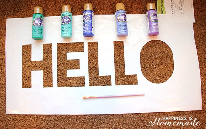 Easy Stenciled Welcome Mat DIY Craft Project