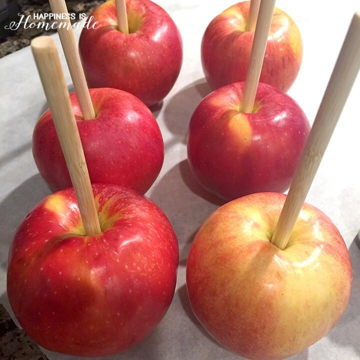 Apples on Sticks