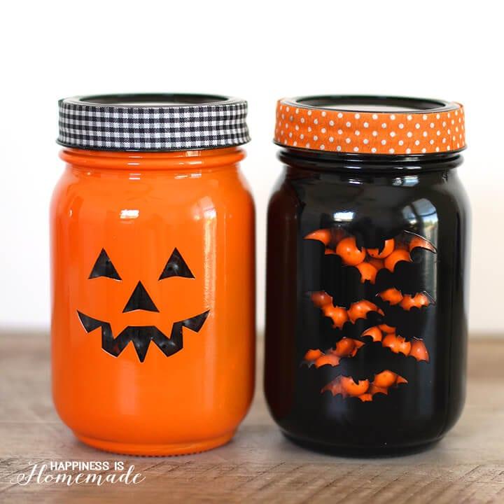 Easy Halloween Treat Jars