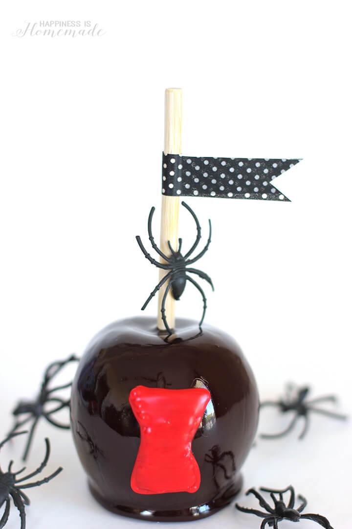 Halloween Treat - Black Widow Spider Candy Apples