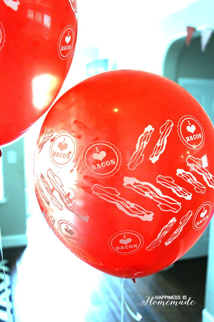 I ♥ Bacon Balloons