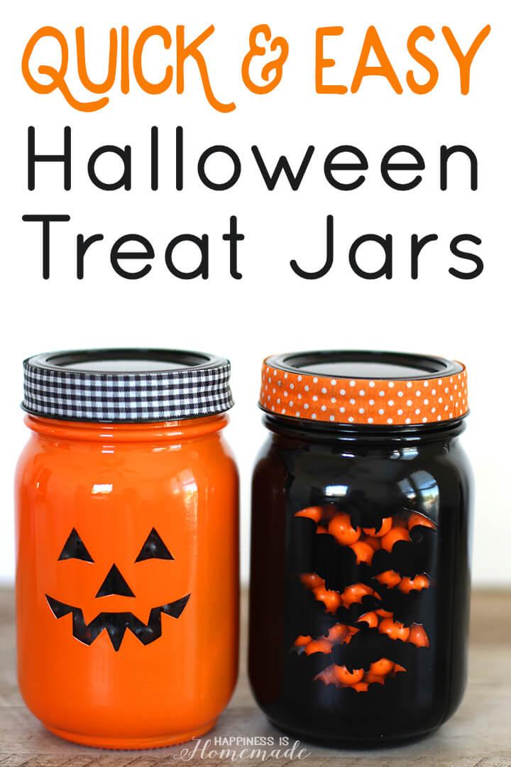 Quick & Easy Halloween Treat Jar Tutorial
