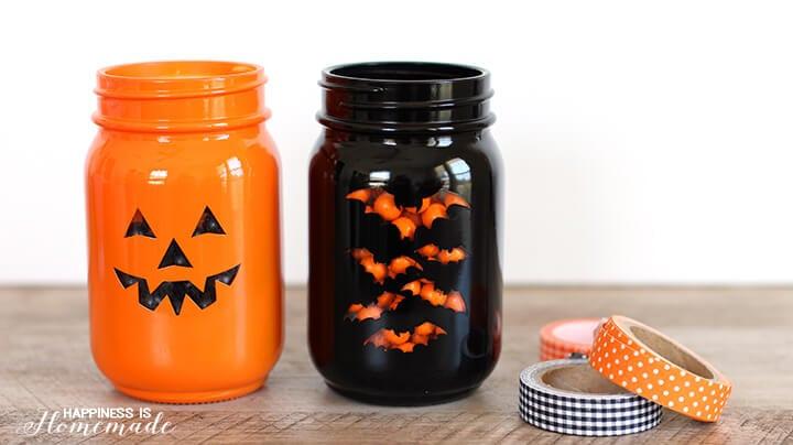 Quick and Easy Halloween Treat Jars