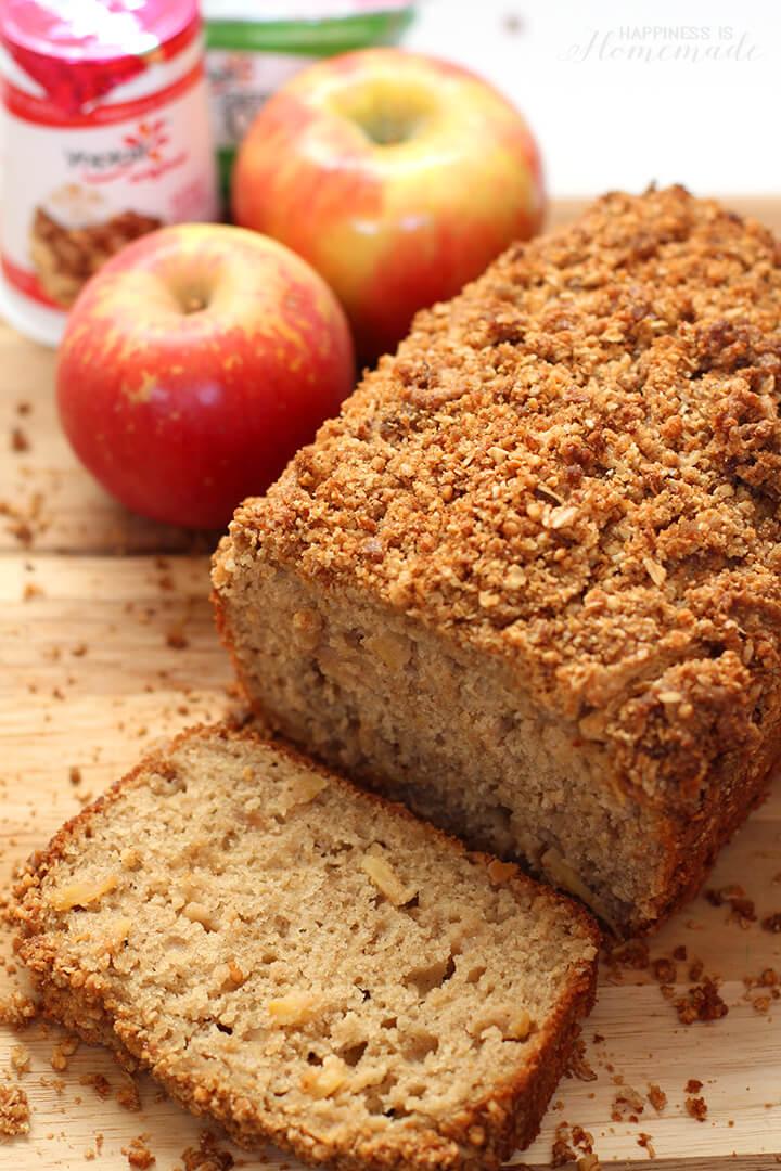 Apple Cinnamon Bread with Granola Streusel