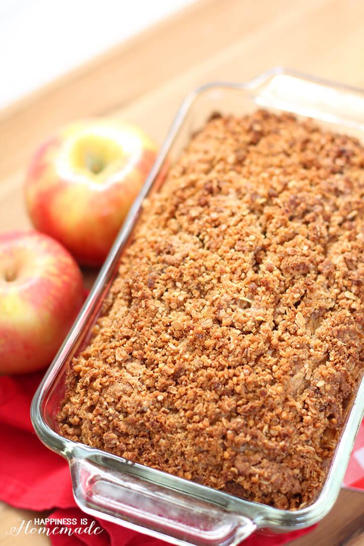 Apple Granola Streusel Bread