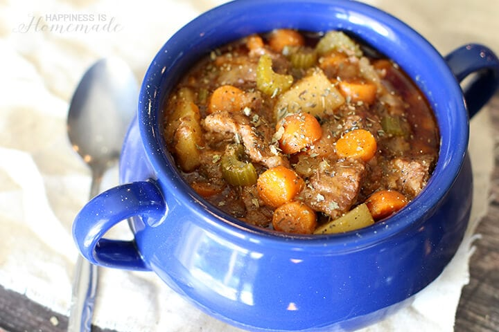 Crockpot Slow Cooker Beef Stew with Campbell's Sauces