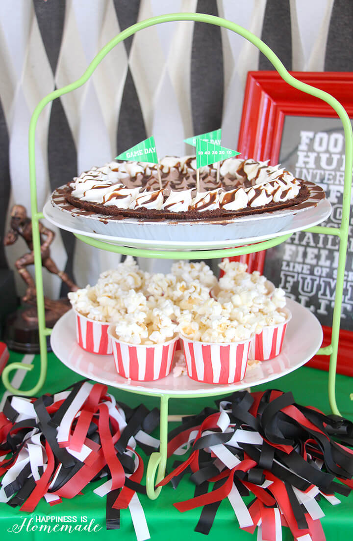 Frozen Pie and Popcorn for Tailgating at Home Football Party