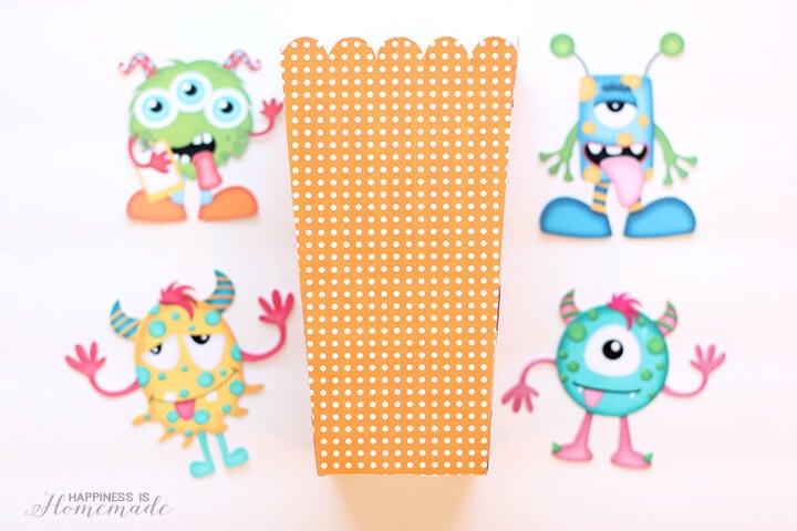 Monster Munch Popcorn Box