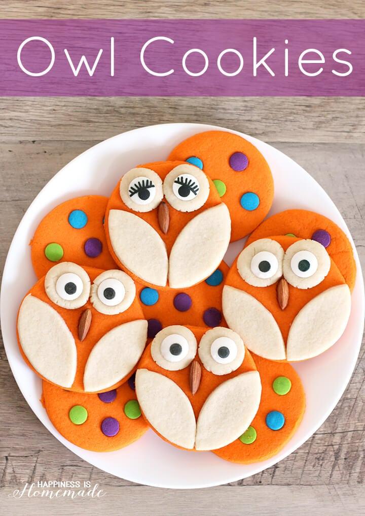 Owl and Polka Dot Halloween Cookie Recipe 2