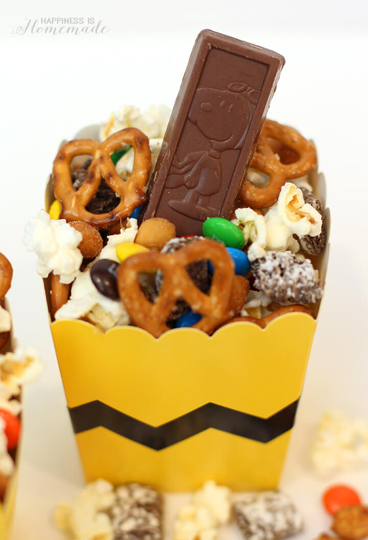 Peanuts Snack Mix with Snoopy Chocolate Bar