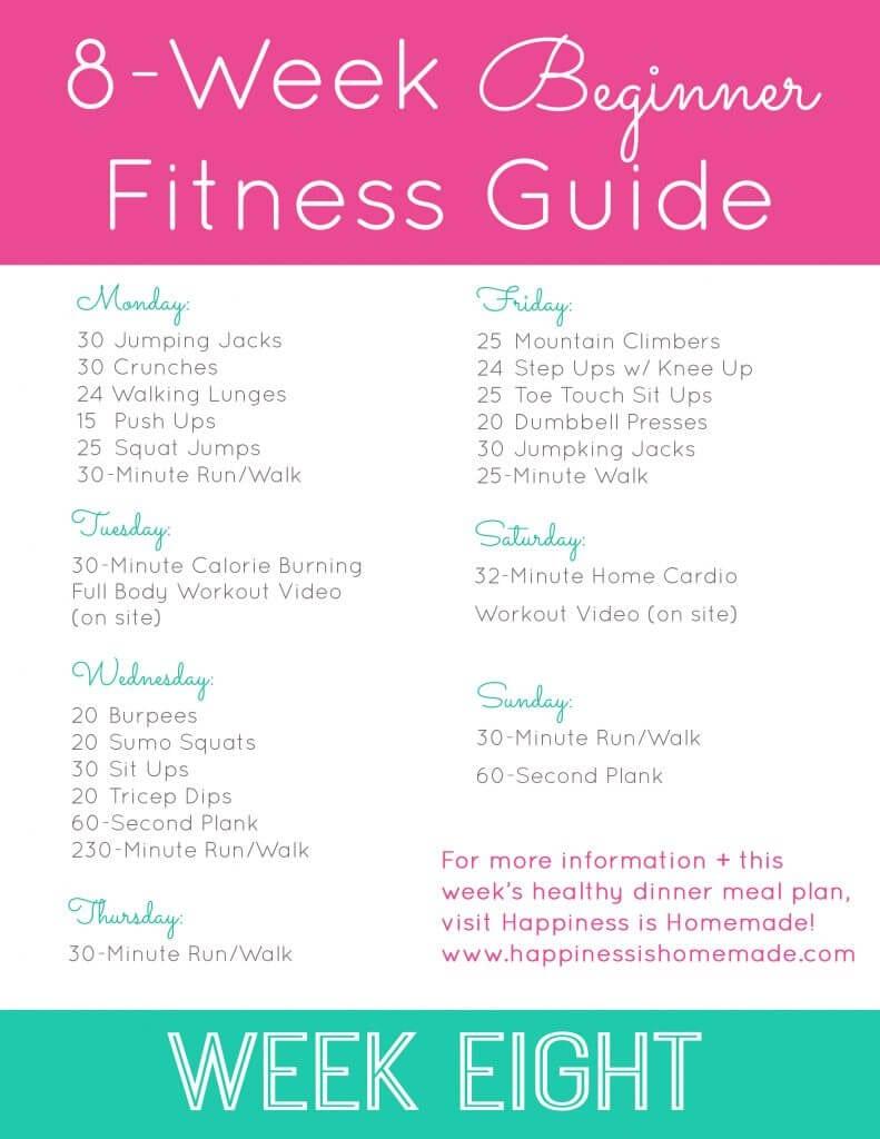 Week Eight Workout Plan