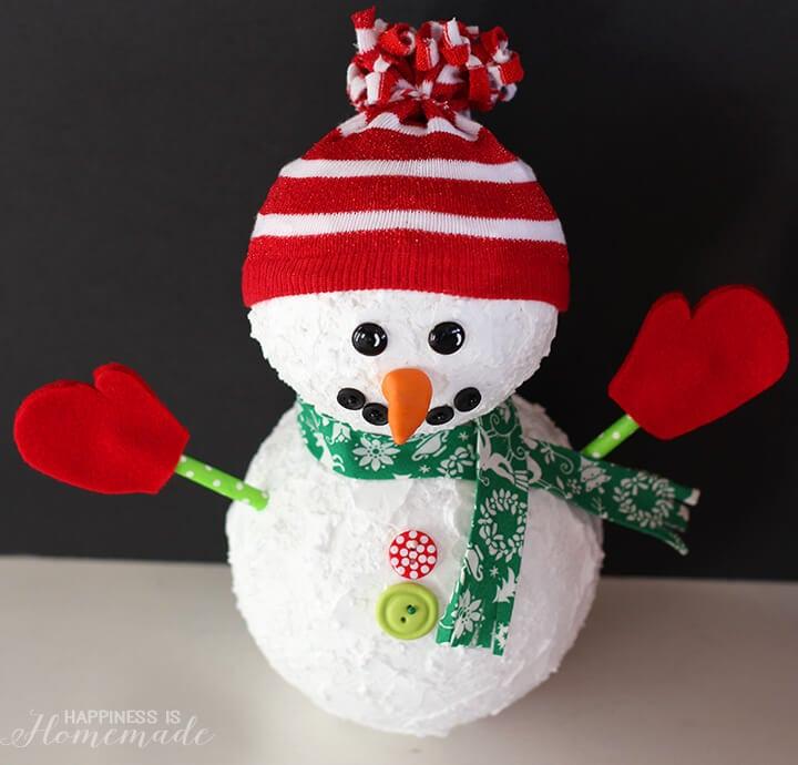Christmas Snowman from Floracraft Foam