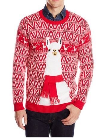 Festive Llama Holiday Sweater