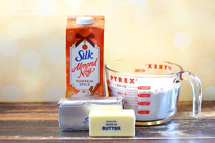 Pumpkin Spice Egg Nog Cream Cheese Frosting Ingredients