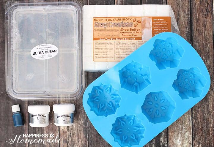 Snowflake Sugar Scrub Ingredients
