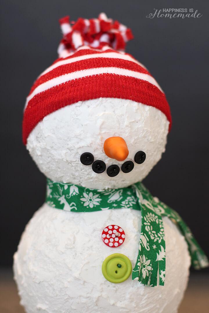 Styrofoam Ball Snowman