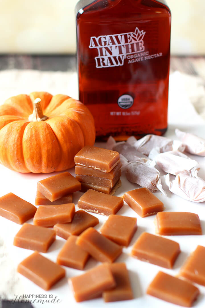 Sugar-Free Caramels with Agave In The Raw