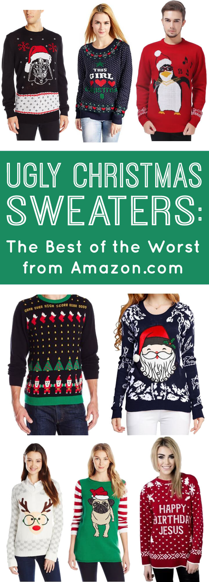 Ugly Christmas Sweaters from Amazon