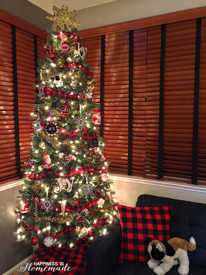 Buffalo Check Plaid Christmas Tree by Happiness is Homemade