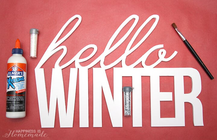 Hello Winter Large Foam Core Decorative Words